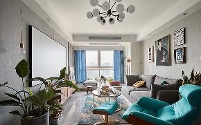 客厅图片来自家装大管家在98平北欧混搭空间 自然如此的近的分享
