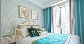 卧室图片来自家装大管家在140平轻奢美式3居 雅致舒适融合的分享