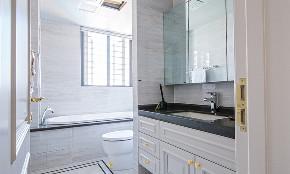 卫生间图片来自家装大管家在140平轻奢美式3居 雅致舒适融合的分享