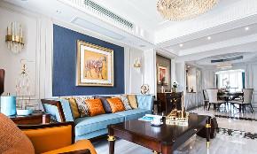 客厅图片来自家装大管家在140平轻奢美式3居 雅致舒适融合的分享
