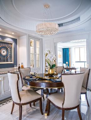 餐厅图片来自家装大管家在140平轻奢美式3居 雅致舒适融合的分享