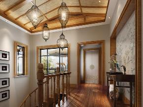 汤臣湖庭 花园别墅 中式风格 别墅设计师 楼梯图片来自孔继民在汤臣湖庭花园别墅新中式设计的分享