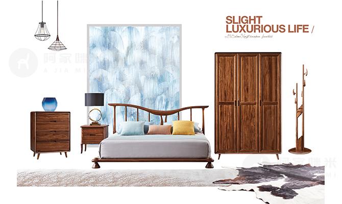 新中式 实木家具 卧室图片来自浙江阿家咪米在阿家咪米实木家具美图的分享