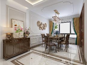 美式 家装 四居 80后 餐厅图片来自济南世纪宏达装饰在金汇瀚玉城的分享