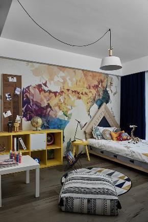 儿童房图片来自家装大管家在110平现代时尚3居 实用又顺眼的分享
