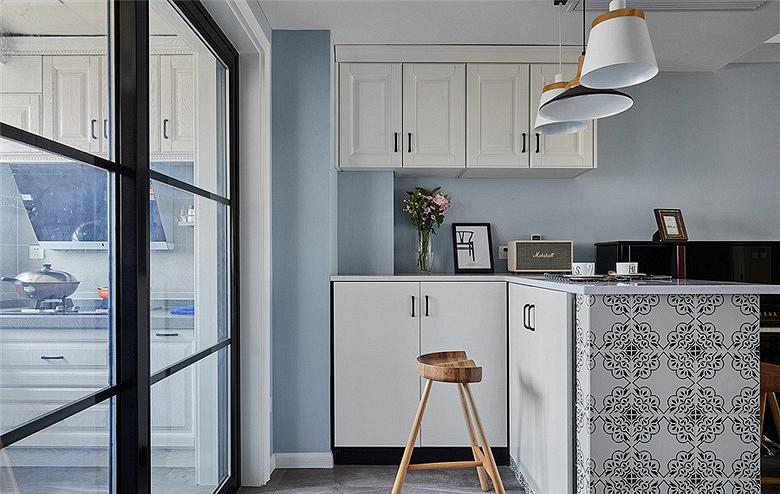 餐厅图片来自家装大管家在106平时尚北欧3居室 大写的实用的分享