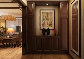 玄关图片来自沈阳百家装饰小姜在百家装饰橡树湾135平中式风格的分享
