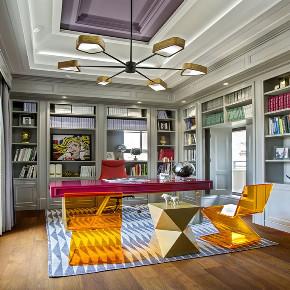 别墅 小资 书房图片来自武汉申阳红室内设计有限公司在汤逊湖壹号公寓的分享