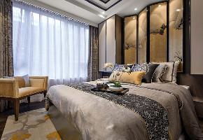 二居 旧房改造 中式 卧室图片来自北京今朝装饰在中式客中山水的分享