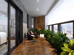 现代 冷色系 三居室 后现代 阳台图片来自乐粉_20181003112538352在2018冷色系简约风格案例的分享