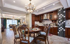 餐厅图片来自家装大管家在158平美式低奢3居 实用艺术并存的分享