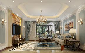 客厅图片来自北京高度国际在中信墅--简约欧式风格的分享