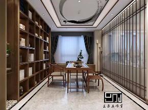 书房图片来自沈阳百家装饰小姜在碧桂园名门200平别墅港式风格的分享