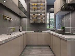 简约 三居 黑白灰 新房装修 厨房图片来自乐粉_20181003112538352在122㎡万科大都会黑白灰案例的分享