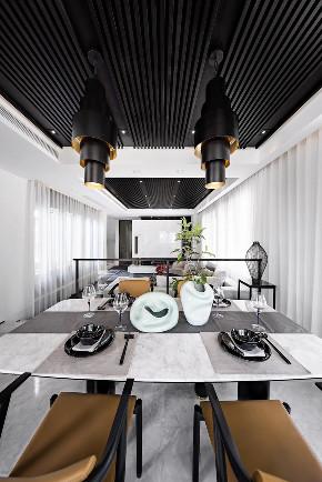 现代 新中式 混搭 江与城 鹏友百年 半包 全包 全案设计 餐厅图片来自鹏友百年装饰在新中式顶级别墅的分享