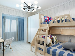 二居 80后 旧房改造 小资 儿童房图片来自徐春龙设计师在迷情北欧的分享