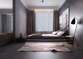三居 二十四城 工业风格 卧室图片来自百家设计小刘在华润二十四城124平工业风格风的分享