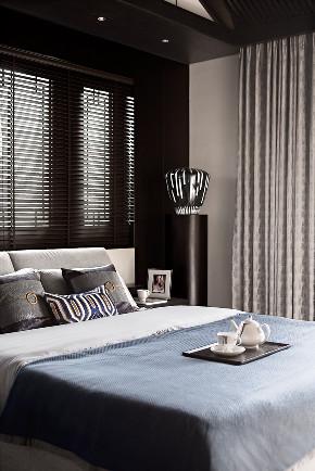 现代 新中式 混搭 江与城 鹏友百年 半包 全包 全案设计 卧室图片来自鹏友百年装饰在新中式顶级别墅的分享