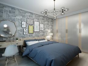 二居 80后 旧房改造 小资 卧室图片来自徐春龙设计师在迷情北欧的分享