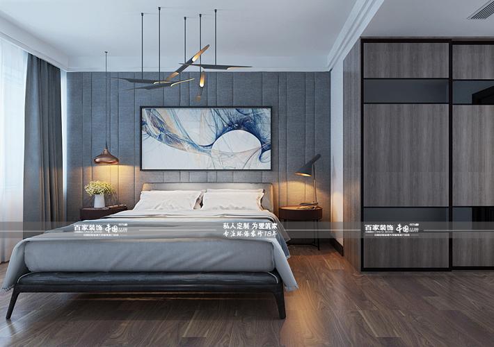 三居 奥园国际 后现代风格 卧室图片来自百家设计小刘在奥园国际125平后现代风的分享