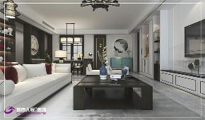 客厅图片来自济南城市人家装修公司-在绿地国际城装修新中式风格效果图的分享