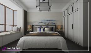卧室图片来自济南城市人家装修公司-在绿地国际城装修新中式风格效果图的分享
