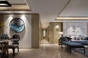 新中式 混搭 简约 天元道 渝北 半包 全案设计 客厅图片来自鹏友百年装饰在新中式美宅,太有美了!的分享