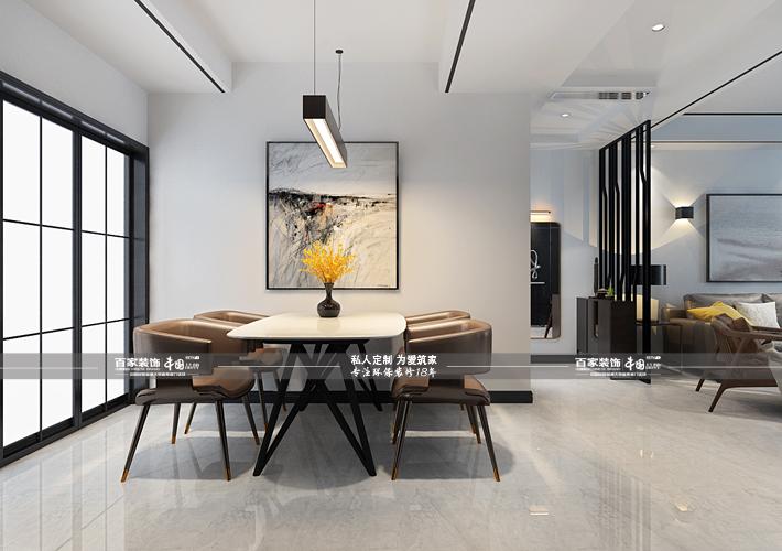 三居 奥园国际 后现代风格 餐厅图片来自百家设计小刘在奥园国际125平后现代风的分享