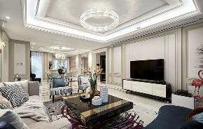 客厅图片来自家装大管家在135平端庄优雅3居 休闲舒适氛围的分享