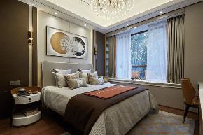 现代 轻奢 半包 全包 全案设计 私人订制 别墅 联排 卧室图片来自鹏友百年装饰在一砖一瓦构成温情住宅的分享