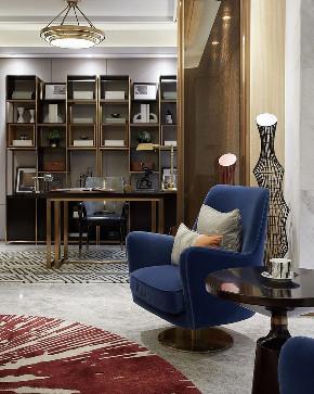 现代 轻奢 半包 全包 全案设计 私人订制 别墅 联排 书房图片来自鹏友百年装饰在一砖一瓦构成温情住宅的分享
