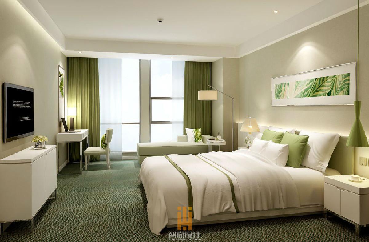 乐山酒店设计公司_智尚酒店设计_卧室