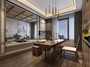 别墅 新中式 简约 现代中式 书房图片来自申远空间设计北京分公司在现代中式风格的分享