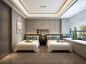 别墅 新中式 简约 现代中式 儿童房图片来自申远空间设计北京分公司在现代中式风格的分享