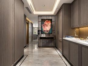 别墅 新中式 简约 现代中式 玄关图片来自申远空间设计北京分公司在现代中式风格的分享