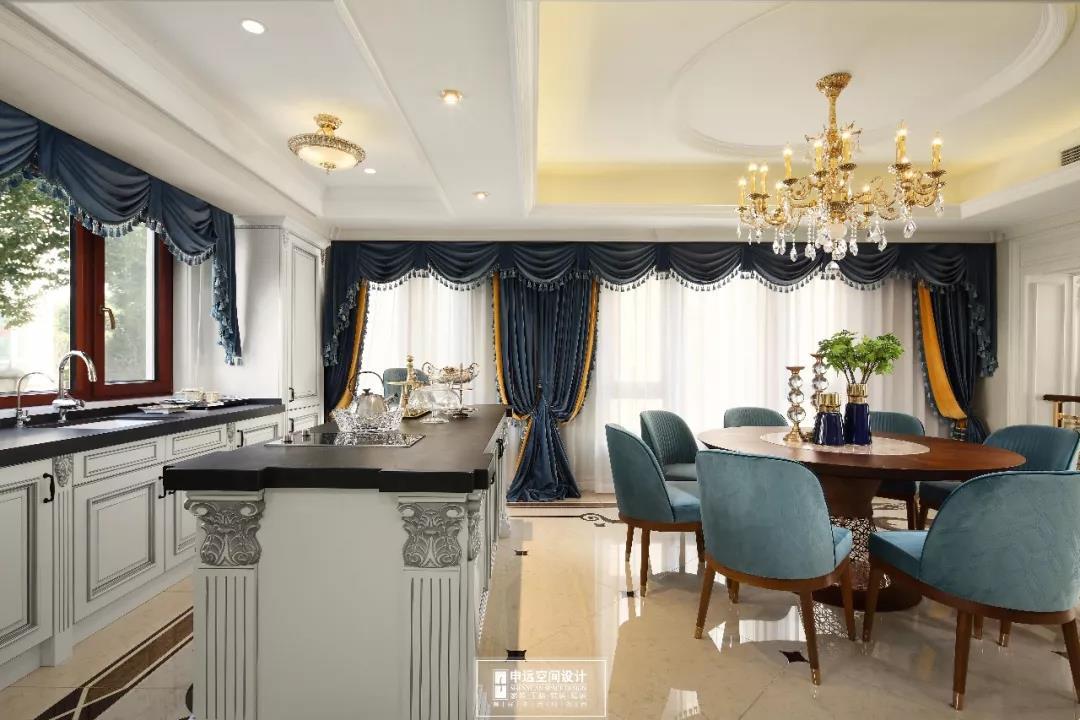 别墅 法式风格 欧式 餐厅图片来自申远空间设计北京分公司在完工实景拍摄--法式风格的分享