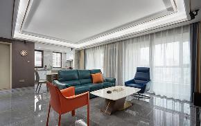 客厅图片来自家装大管家在清新不脱俗 108平现代时尚3居室的分享