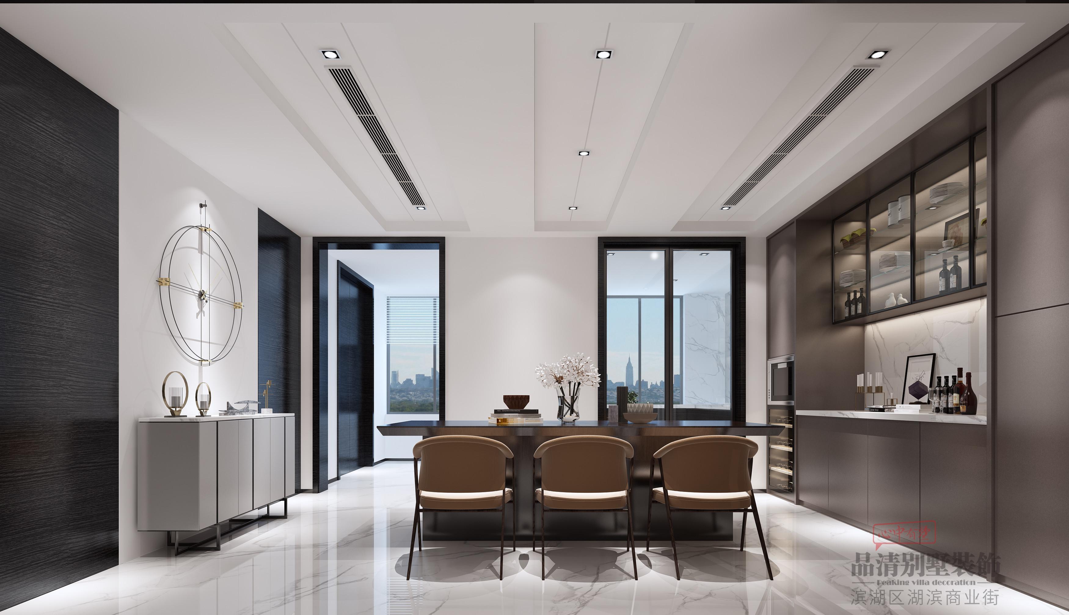 简约 别墅 客厅 厨房 卧室图片来自别墅装修设计师在阿卡迪亚480㎡现代简约的分享