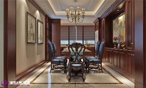 美式 餐厅图片来自济南城市人家装修公司-在汉峪海风装修美式风格效果图的分享