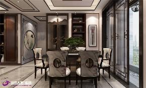 中式 餐厅图片来自济南城市人家装修公司-在海尔云世界三室两厅中式装修的分享