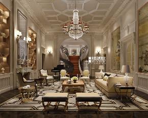 别墅 新古典 欧式 申远 别墅装修 客厅图片来自申远空间设计北京分公司在优山美地-新古典风格的分享