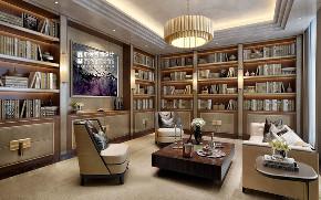 别墅 新古典 欧式 申远 别墅装修 书房图片来自申远空间设计北京分公司在优山美地-新古典风格的分享