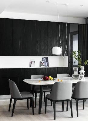 简约 黑白 现代 全案设计 半包 全包 餐厅图片来自鹏友百年装饰在个性极简风的分享
