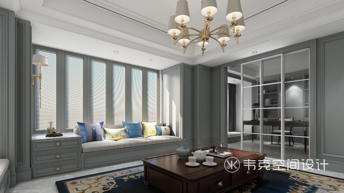 飘窗设计让整个居室拥有充足的采光,榻榻米与墙体巧妙自然衔接,带给人独具美感的视觉体验。