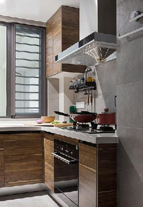 厨房图片来自家装大管家在布局紧凑 105平北欧素雅时尚3居的分享