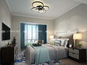 现代轻奢 轻奢法式 混搭 未来家 白领 小资 温馨 舒适 收纳 卧室图片来自昆明二十四城装饰集团在蓝光·林肯公园  现代轻奢法式的分享