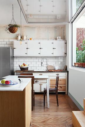 田园 一居 旧房改造 小资 80后 厨房图片来自北京今朝装饰在清新田园的分享