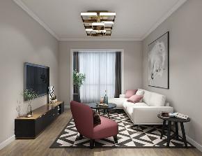 现代轻奢 轻奢法式 混搭 未来家 白领 小资 温馨 舒适 收纳 客厅图片来自昆明二十四城装饰集团在蓝光·林肯公园  现代轻奢法式的分享