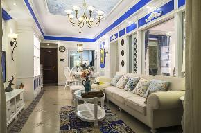 田园 小资 旧房改造 收纳 一居 客厅图片来自北京今朝装饰在地中海西欧文艺的分享