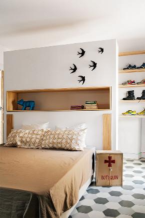 田园 一居 旧房改造 小资 80后 卧室图片来自北京今朝装饰在清新田园的分享